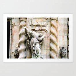 Statue of Jesuit Saint Francis Borgi Art Print