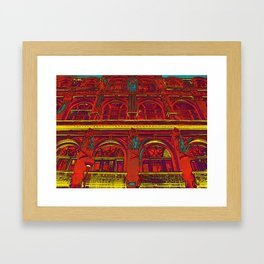 HOTEL DU ROUGE Framed Art Print