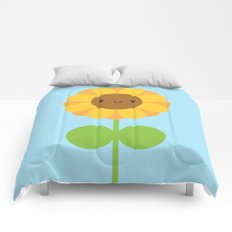 Kawaii Sunflower Comforters