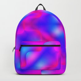 Bright pattern of blurry pink and light blue flowers in a light kaleidoscope. Backpack