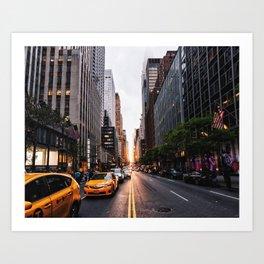 Manhattanhenge, 2018.05.30 Art Print