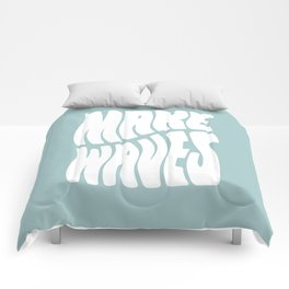 Make Waves Comforters