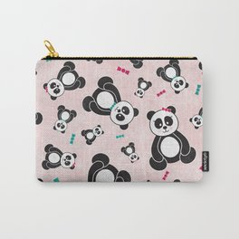 Panda Freefall in Pink Carry-All Pouch
