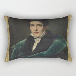 Alexandre Dubois-Drahonet - Portrait of Monsieur Gest Rectangular Pillow