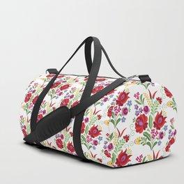 Hungarian Folk Design Red Peppers Duffle Bag