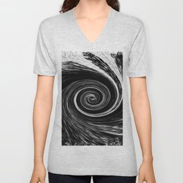 Center of The Vortex black and white 1 Unisex V-Neck