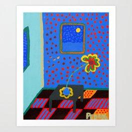 One Daisy Glow Art Print