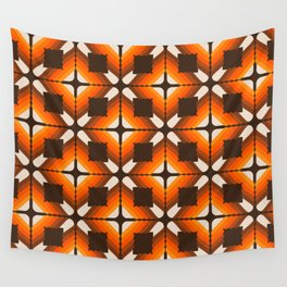 Golden Granny Square Wall Tapestry