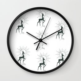 Antelope knocks out diamonds against the sun in Indian style Wall Clock