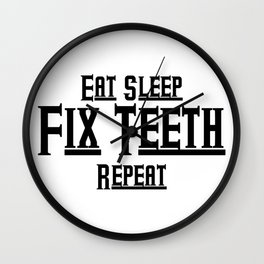 Fix teeth Dental Funny Wall Clock