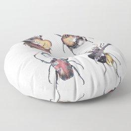 Meet the Beetles (white option) Floor Pillow
