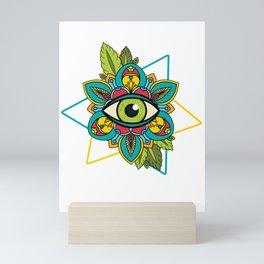 Illuminati Triangle Masonic Conspiracy Symbol Gift Mini Art Print