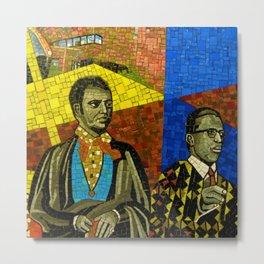 116 Street Harlem Subway Station Underground African-American Wall Mosaic Art Photograph Metal Print