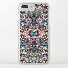 Drawing Floral Zentangle G237 Clear iPhone Case