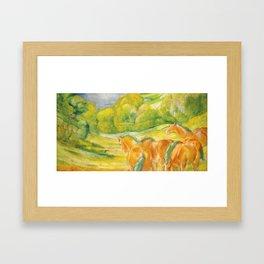 """Franz Marc """"Large Landscape I (Landschaft I)"""" Framed Art Print"""