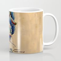 fitzgerald Mugs featuring Marie de los Muertos by Cathy FitzGerald