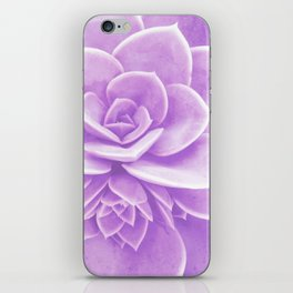 Purple Succulent Reflection iPhone Skin