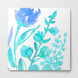 Abstract floral & square #8 Metal Print
