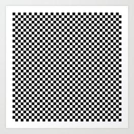 Check VIII - Black Art Print