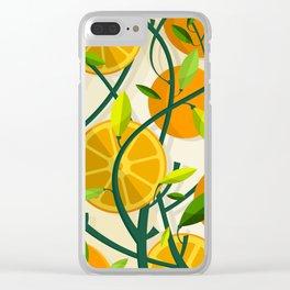 Mediterranean Oranges Clear iPhone Case