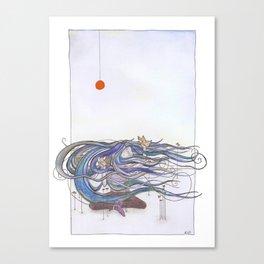 The sea game Canvas Print