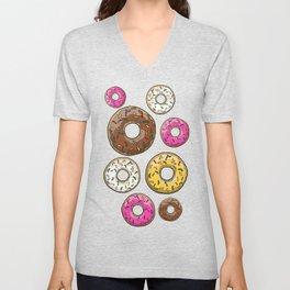 Funfetti Donuts - Black Unisex V-Neck