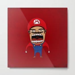 Screaming Mario Metal Print