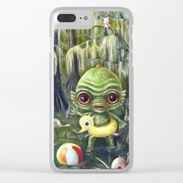 Baby Creature from the Black Lagoon Clear iPhone Case
