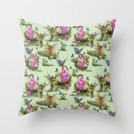 Spring Fairy Butterflies Throw Pillow
