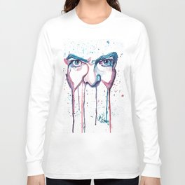 Bowie Watercolor  Long Sleeve T-shirt