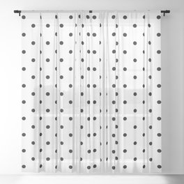Dotted (Black & White Pattern) Sheer Curtain