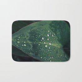 Rainy Leaves Bath Mat