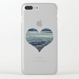 Beach Love Dark Clear iPhone Case