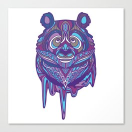 Melty Panda (Purple Variant) Canvas Print