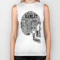 hamlet Biker Tanks featuring Shakespeare's Hamlet Skull by MollyW