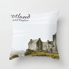 Eilean Donan Castle Scotland United Kingdom Throw Pillow
