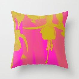 Neon Fuschias Throw Pillow