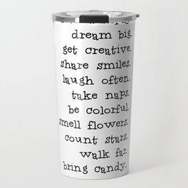 Live simply Travel Mug