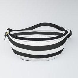 Black and White Jumbo Beach House Stripes Fanny Pack