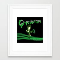 ghostbusters Framed Art Prints featuring Ghostbusters by Glopesfirestar