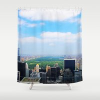 central park Shower Curtains featuring Central Park by NaturallyJess