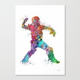 Baseball Softball Catcher 3 Art Sports Poster Canvas Print