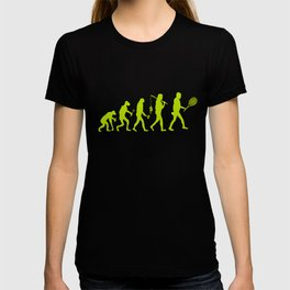 Evolution of Tennis Species T-shirt