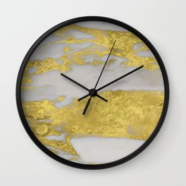 Agria gold marble Wall Clock