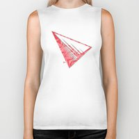 pyramid Biker Tanks featuring Pyramid by Flester