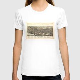 Aerial View of Bellevue Ohio Sandusky & Huron counties (1888) T-shirt