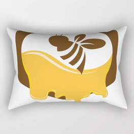Save the Bees Our Gardens Need Them Rectangular Pillow