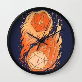 A Roll of the Die Wall Clock