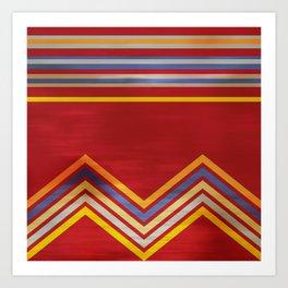Stripes and Chevrons Ethic Pattern Art Print