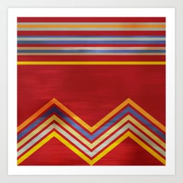 Stripes and Chevrons Ethic Pattern Art Print